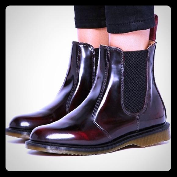 1f4f65788c7d0 Dr. Martens Shoes | Dr Martens Kensington Flora Burgundy Chelsea ...